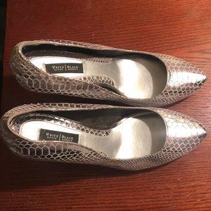 White House Black Market silvery heels